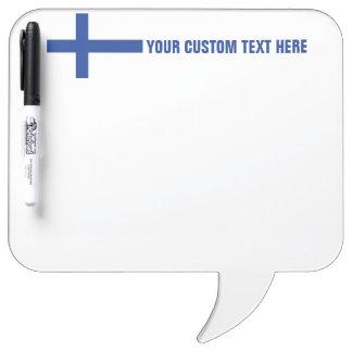 Finnish Flag custom message boards Dry-Erase Whiteboards