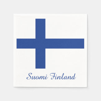Finnish Flag custom paper napkins