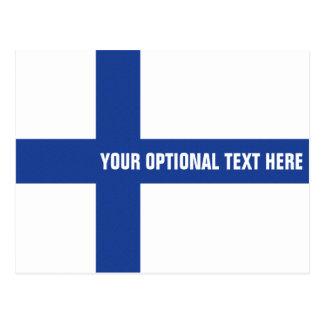 Finnish Flag custom postcard