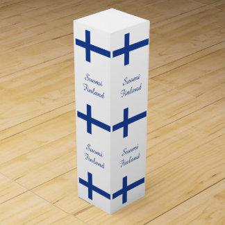 Finnish Flag custom wine gift box