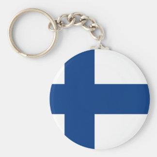 Finnish flag key chains