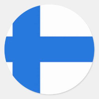 Finnish Flag Round Sticker
