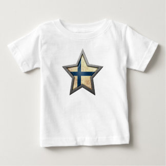 Finnish Flag Star Baby T-Shirt