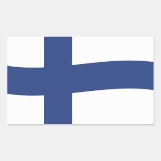 Finnish Flag Rectangular Stickers