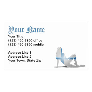 Finnish Girl Silhouette Flag Double-Sided Standard Business Cards (Pack Of 100)