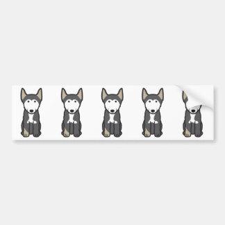 Finnish Lapphund Dog Cartoon Bumper Sticker
