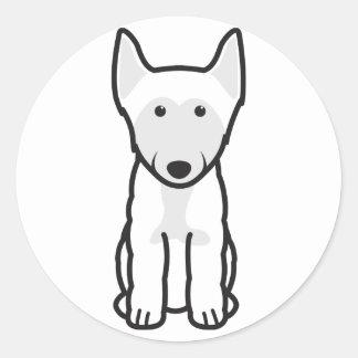 Finnish Lapphund Dog Cartoon Round Sticker