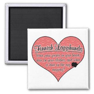 Finnish Lapphund Paw Prints Dog Humor Square Magnet