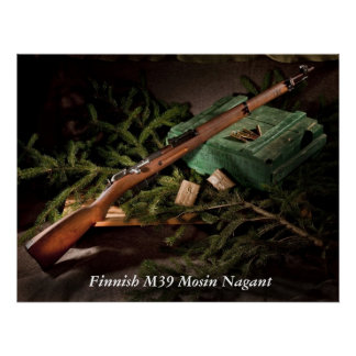 Finnish M39 Mosin Nagant Poster