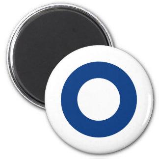 Finnish roundel 6 cm round magnet