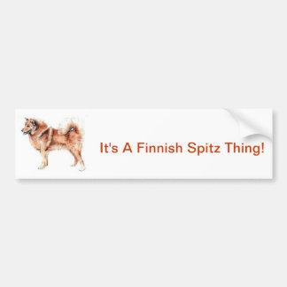 Finnish Spitz Car Bumper Sticker