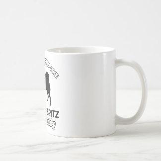 Finnish Spitz Dog Daddy Basic White Mug