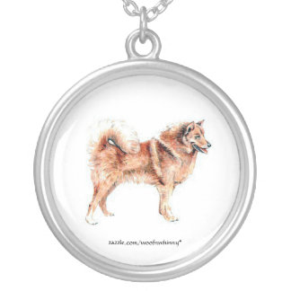 Finnish Spitz Personalized Necklace