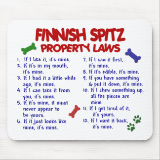 FINNISH SPITZ Property Laws 2 Mouse Pad