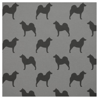 Finnish Spitz Silhouettes Pattern Fabric