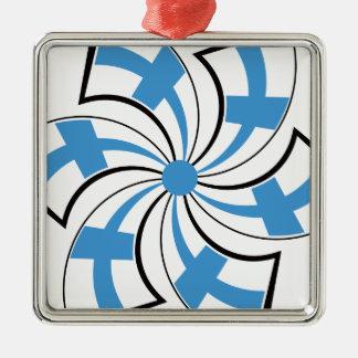 Finnish Star Silver-Colored Square Decoration
