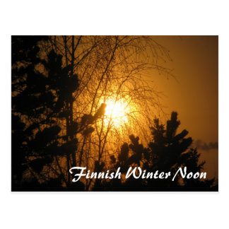 Finnish Winter Noon postcard
