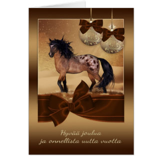 FinnishHorse Christmas Holiday Greeting Card