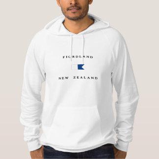 Fiordland New Zealand Alpha Dive Flag Hoodie