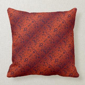 Fiore Burnt Orange and Black Cushions