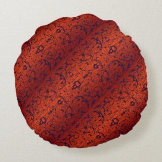 Fiore Burnt Orange and Black Round Cushion