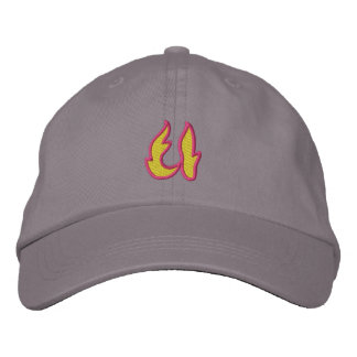 Fire #1 Letter U Embroidered Baseball Cap
