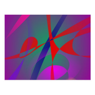 Fire and Calmness Abstract Expression Post Card