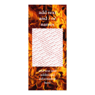 Fire and Flame Pattern Magnetic Invitations