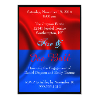 Fire and Ice Ball Invitations
