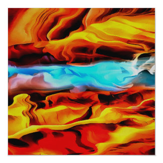 Fire and Ice Magnetic Card