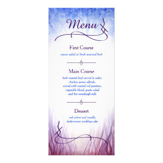 Fire and Ice Theme Custom Menu - Watercolor Rack Card Template