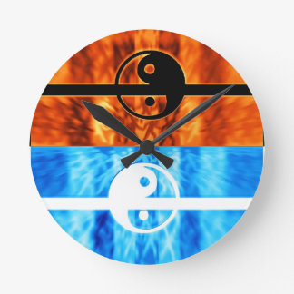fire and water wall clocks