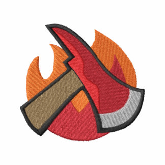Fire Axe with flames Polo Shirts