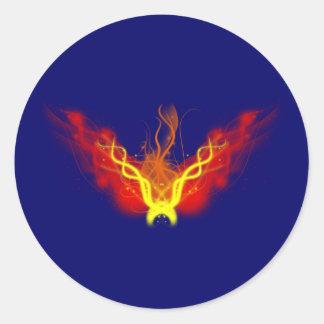 Fire ball fire ball round sticker