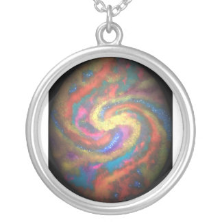 Fire Ball Round Pendant Necklace