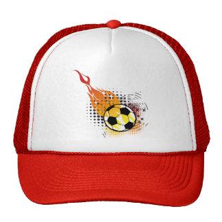 Fire Ball Soccer Hats