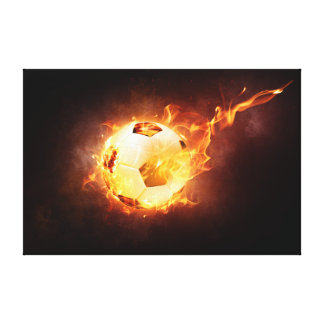 Fire Ball Stretched Canvas Print