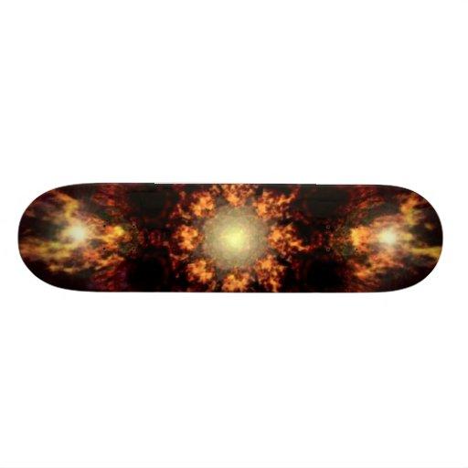 Fire Balls Design Skateboard
