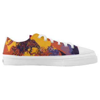 Fire Bird and Night Horse Shoes Printed Shoes