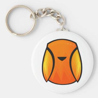 Fire Bird Basic Round Button Key Ring