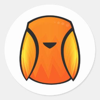 Fire Bird Round Sticker