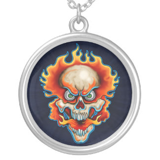 Fire Breather Round Pendant Necklace