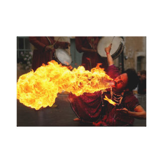 Fire breathing gallery wrapped canvas