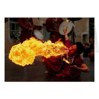 Fire Breathing Greeting Cards