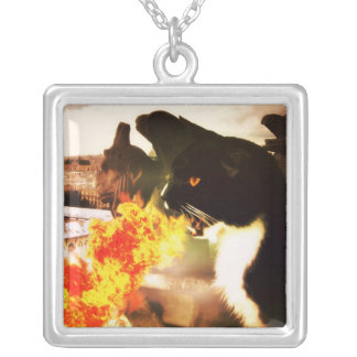 Fire Breathing Cat Dragon necklace