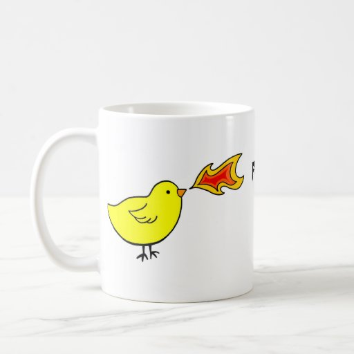 Fire breathing chickens of doom mug