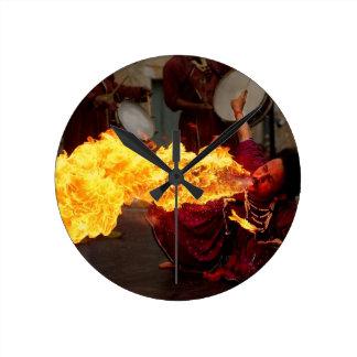 Fire Breathing Clocks