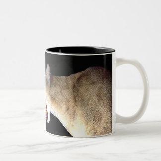 Fire breathing Cougar on a mug