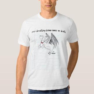 Fire-breathing Demon Moose of Death T-shirt