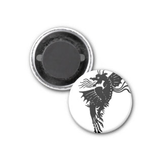 Fire Breathing Dragon 3 Cm Round Magnet
